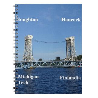 Portage Lake Lift Bridge Spiral Notebook