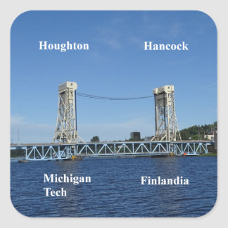 Portage Lake Lift Bridge Square Sticker