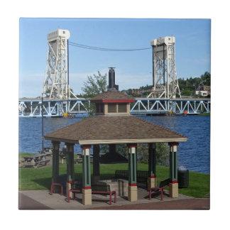Portage Lake Lift Bridge Tile