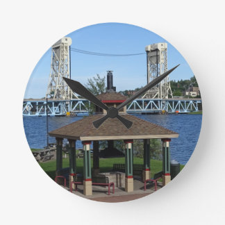 Portage Lake Lift Bridge Wallclocks
