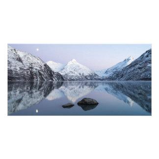 Portage Lake Twilight Custom Photo Card