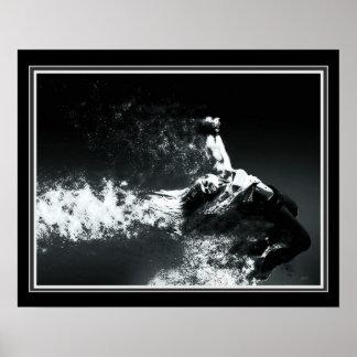 """""""Portal""""  B&W Digital Abstract 16 x 20 Poster"""