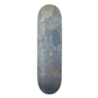 Portal of Rouen Cathedral Morning Light by Monet Skate Board Deck