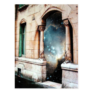Portal to the Universe stars cosmos building gate Postcard