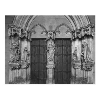 Portal with a trumeau depicting the Virgin Postcard