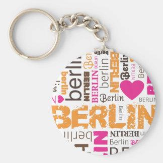 Porte - clé allemand de typographie de Berlin Porte-clé Rond