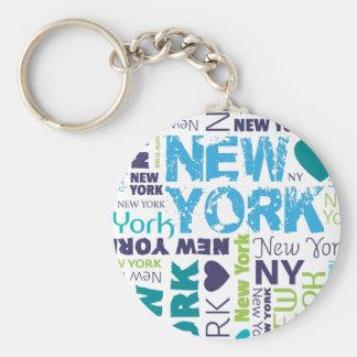 Porte - clé américain de souvernir de New York Cit Porte-clé Rond