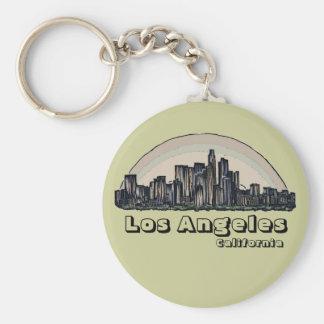 Porte - clé artistique d'horizon de Los Angeles la Porte-clés