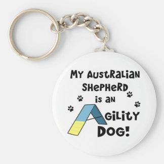 Porte - clé australien de chien d'agilité de porte-clé rond