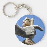 Porte - clé avec la clé sur la main de St Peter Porte-clé Rond