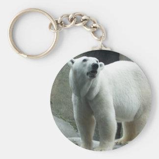 Porte - clé blanc d'ours blanc porte-clef