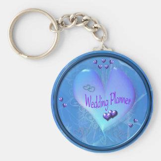 Porte - clé bleu mou de wedding planner porte-clé rond