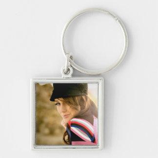Porte - clé carré de photo porte-clé carré argenté