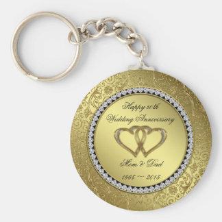Porte - clé classique d'anniversaire de mariage porte-clé rond