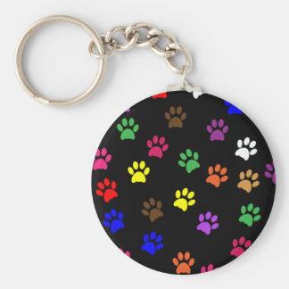 Porte - clé coloré d'amusement d'animal familier porte-clé rond