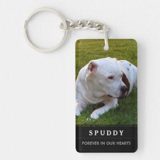 Porte - clé commémoratif d'animal familier - poème porte-clé rectangulaire en acrylique double face