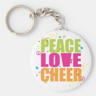 Porte - clé d'acclamation d'amour de paix porte-clé rond