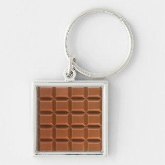 Porte - clé d'arrière - plan de barre de chocolat porte-clef