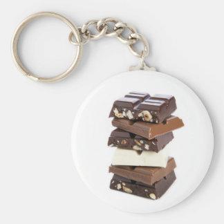 Porte - clé de barres de chocolat porte-clé rond