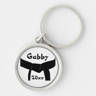 Porte - clé de base de ceinture noire d'arts porte-clés