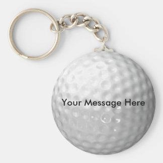 Porte - clé de boule de golf porte-clé rond