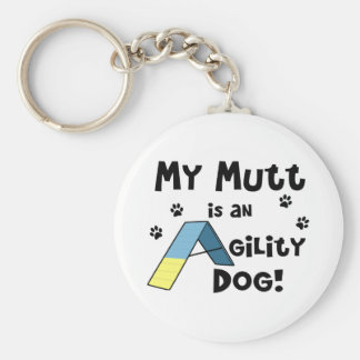 Porte - clé de chien d'agilité de chien porte-clé rond