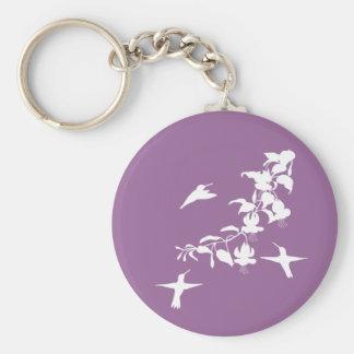 Porte - clé de colibris porte-clé rond