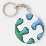 Porte - clé de conception de puzzle porte-clefs