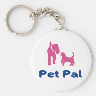 Porte - clé de copain d'animal familier porte-clé rond