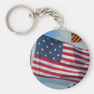 Porte - clé de drapeau d'étoile des Etats-Unis 15 Porte-clé Rond