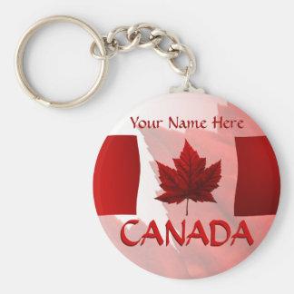 Porte - clé de drapeau du Canada de porte - clés d Porte-clé Rond