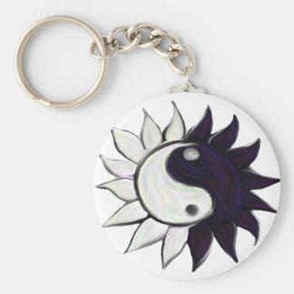 Porte - clé de fleur de Yin-Yang Porte-clé Rond