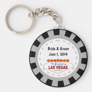 Porte - clé de jeton de poker de Las Vegas Porte-clé Rond
