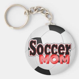 Porte - clé de maman du football porte-clé rond