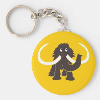 Porte - clé de mammouth laineux porte-clé rond