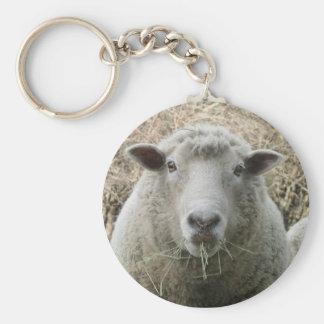 Porte - clé de moutons porte-clé rond