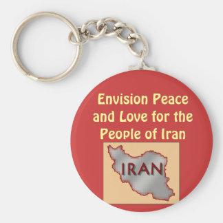 Porte - clé de paix de l'Iran Porte-clé Rond