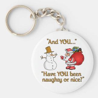 Porte - clé de Père Noël et de bonhomme de neige Porte-clé Rond
