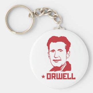 Porte - clé de portrait de George Orwell Porte-clé Rond