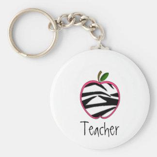 Porte - clé de professeur - contour rose d'Apple W Porte-clés