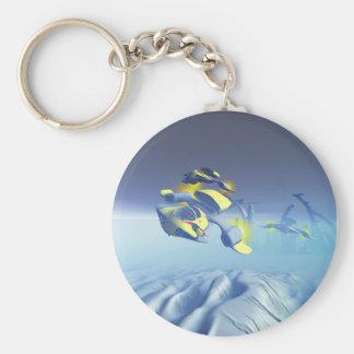 Porte - clé de survol d'escadron de bouledogue porte-clé rond