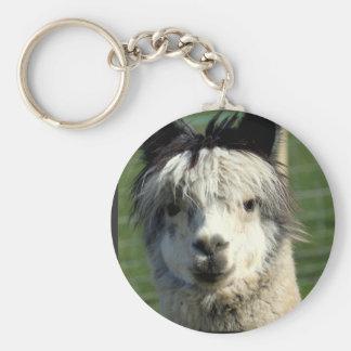 Porte - clé de visage de lama porte-clé rond