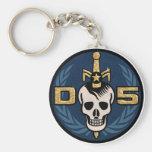 Porte - clé d'emblème du danger 5 porte-clé rond