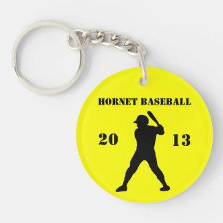 Porte - clé d'équipe de baseball porte-clé rond en acrylique une face