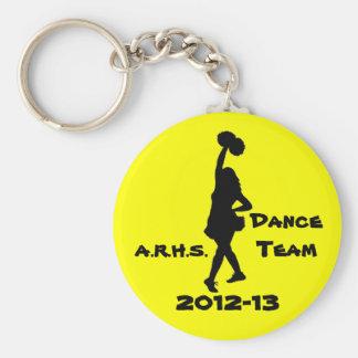 Porte - clé d'équipe de danse porte-clé rond