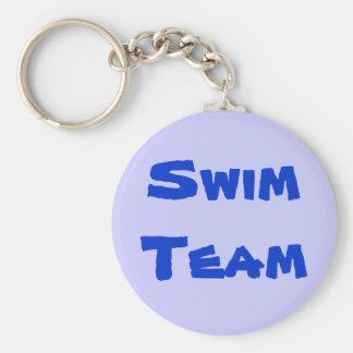 Porte - clé d'équipe de natation porte-clé rond