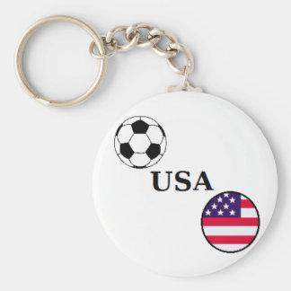 Porte - clé du football des Etats-Unis Porte-clé Rond