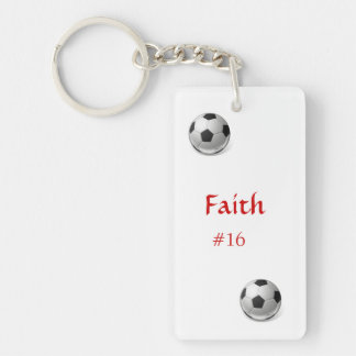 Porte - clé du football porte-clé  rectangulaire en acrylique une face