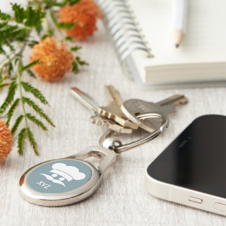 Porte - clé fait sur commande de couleur et de porte-clé ovale argenté