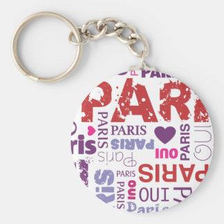 Porte - clé français de typographie de Paris Porte-clé Rond